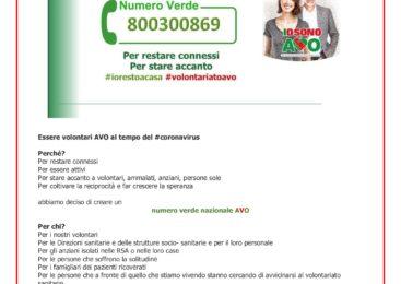 Numero Verde AVO #iorestoacasa